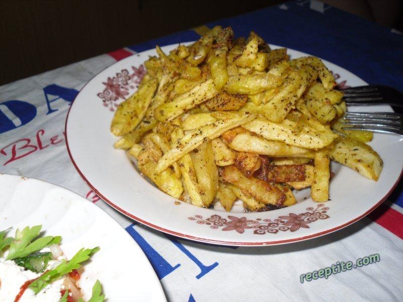 Снимки към Друсани картофки