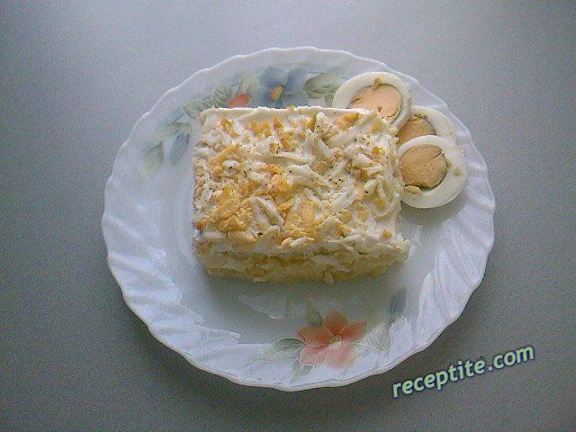 Снимки към Салата с яйца и картофи - редена