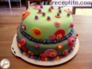 Вита торта с извара и плодове