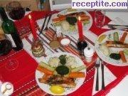 снимка 2 към рецепта Пържена сьомга със зеленчуци