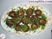 снимка 1 към рецепта Пълнени гъби с лук и кашкавал