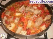 Pork with roasted peppers