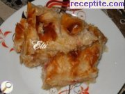 Strudel with Turkish delight and walnuts