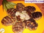 Cutlets with vegetables in BBQ