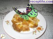 Pumpkin with rice in the oven