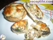 Mushrooms stuffed with walnuts and chicken