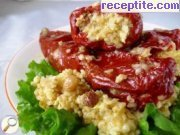 Stuffed peppers with bulgur