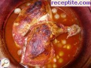 Roasted chicken with tomato sauce