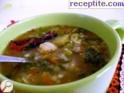 Soup with cauliflower and spinach