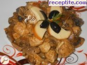 Chicken pieces with mushroom sauce