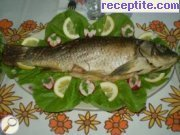 Carp baked with white wine
