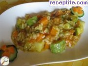 recipe photo 2 Zucchini with carrots and rice in sauce