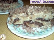 Layered cake with unexpected taste