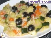 Zucchini with rice and potatoes
