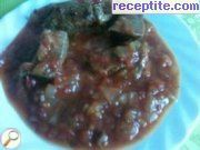 Liver with tomatoes in the oven