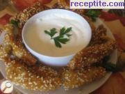 recipe photo 1 Fried slices with garlic sauce