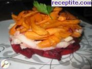 Salad with beets and dressing Victoria