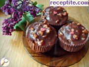 Muffins with cola and marshmallow