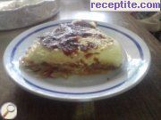 Moussaka with grated potatoes in a halogen oven