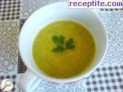 Potato soup with carrot and onion
