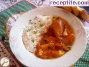 Stewed chicken with potatoes