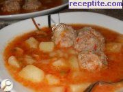 Delicious cooked meal with meatballs
