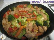 Chicken with Chinese vegetables