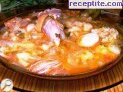 Fake fish soup with knuckle