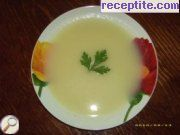 Cream soup of potato and leek