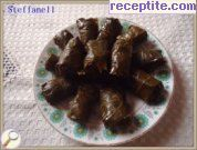 Dolmas with vine leaves and carrots