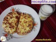 Sandwiches with feta cheese and cheese in a halogen oven