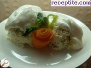 Winter salad with cottage cheese