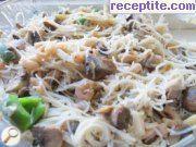 Оризови спагети със скариди