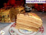 Honey layered cake with thin bases