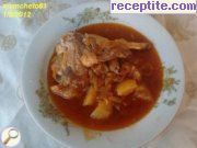 Stewed rabbit in a pressure cooker