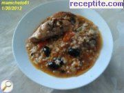 Rabbit with rice stew