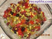 recipe photo 1 Colorful salad with roasted peppers and beans