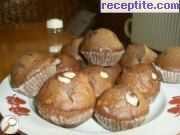 Cocoa muffins with chocolate