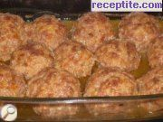 recipe photo 3 Meatballs with white sauce in the oven