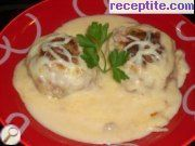 recipe photo 6 Meatballs with white sauce in the oven