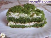 Spinach layered cake