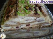 Layered cake with biscotti and ready bases
