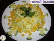 recipe photo 1 Salad with cabbage and corn