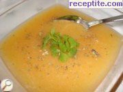 Potato soup with white wine and oregano