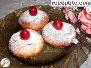 Muffins with cherries, feta cheese and orange peels