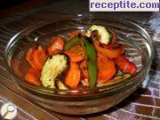 recipe photo 1 Salad of roasted vegetables on BBQ