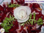 Salad of carrots, turnips and beetroot