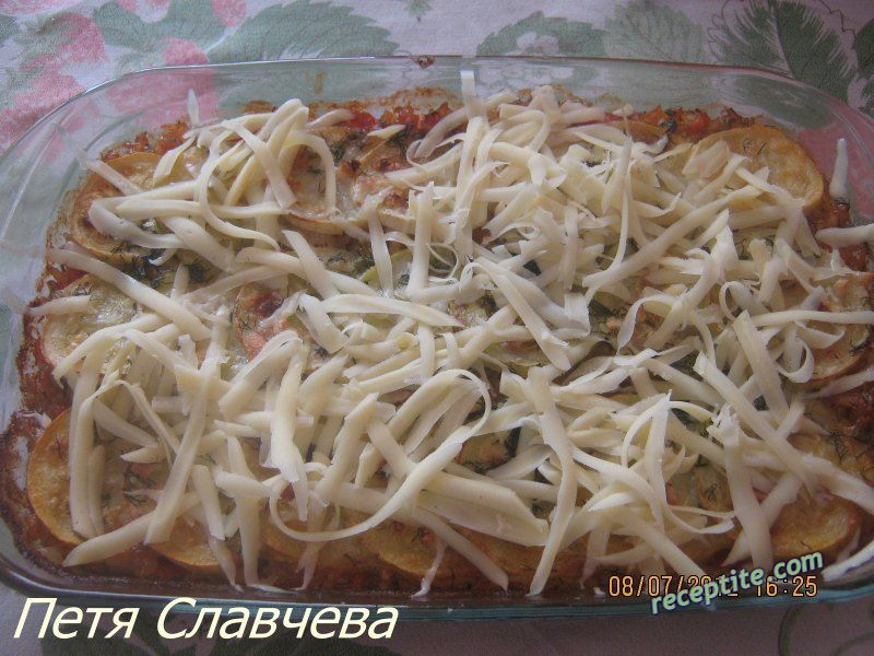 Снимки към Ориз с тиквички и кашкавал