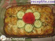 Rice with zucchini and cheese