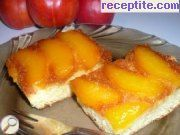 recipe photo 1 Cake with caramel and nectarines